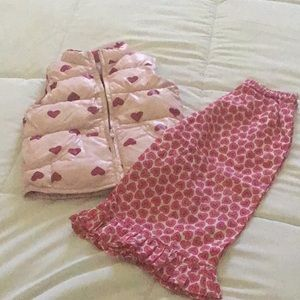 Other - Pink Hearts ♥️ Puffer Vest (free Ruffle Pants)